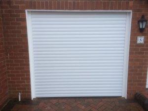 Remote opening garage door