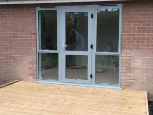 Airforce Gray Aluminium Doors