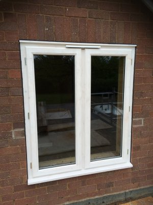 Chunky Timber French Window